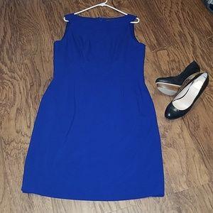 Tahari blue sleeveless dress